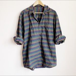thin cotton relaxed 90s button-up (mens)